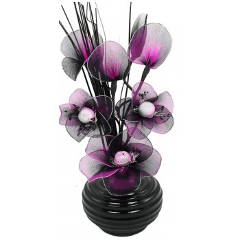 Creative Florals Mini Nylon - Purple & Black