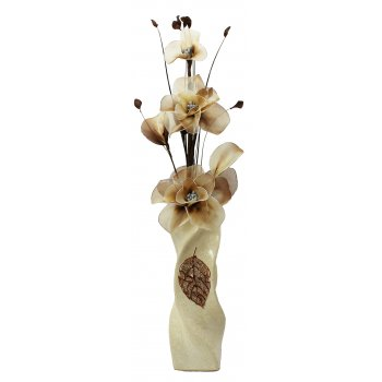Creative Florals Nylon - Cream Coffee