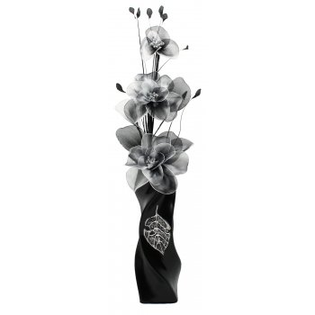 Creative Florals Nylon - Grey & White