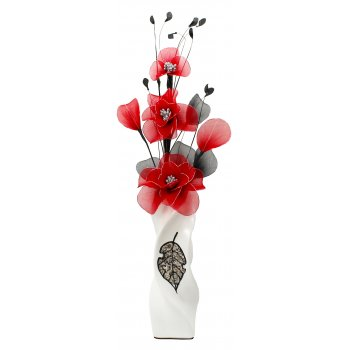 Creative Florals Nylon -Red & Black