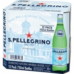 Sparkling Natural Mineral Water - 750 ml X 12 Glass Bottles
