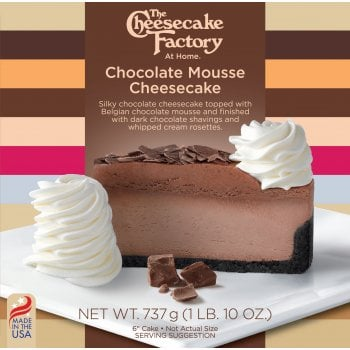 """The Cheesecake Factory At Home 6"""" Chocolate Mousse Cheesecake ( Uncut )"""