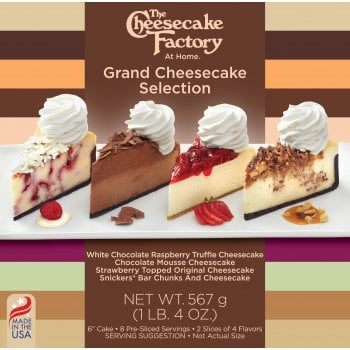 """The Cheesecake Factory At Home 6"""" Grand Cheesecake Selection ( 8 Pre-Sliced )"""