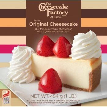 """The Cheesecake Factory At Home 6"""" Original Cheesecake ( Uncut )"""