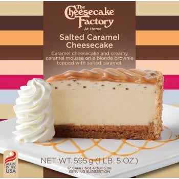 """The Cheesecake Factory At Home 6"""" Salted Caramel Cheesecake ( Uncut )"""