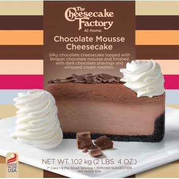 """The Cheesecake Factory At Home 7"""" Chocolate Mousse Cheesecake ( 8 Pre-Sliced )"""