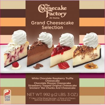 """The Cheesecake Factory At Home 7"""" Grand Cheesecake Selection ( 8 Pre-Sliced )"""