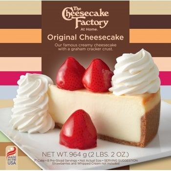 """The Cheesecake Factory At Home 7"""" Original Cheesecake ( 8 Pre-Sliced )"""