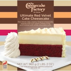 "7"" Ultimate Red Velvet Cake Cheesecake ( 8 Pre-Sliced )"